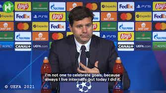 Preview image for Pochettino on finally getting to celebrate after Messi's goal