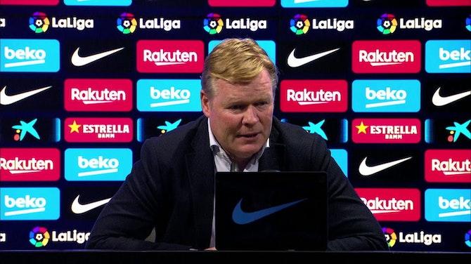 """Koeman: """"Espero que no haya sido el último partido de Messi en casa"""""""