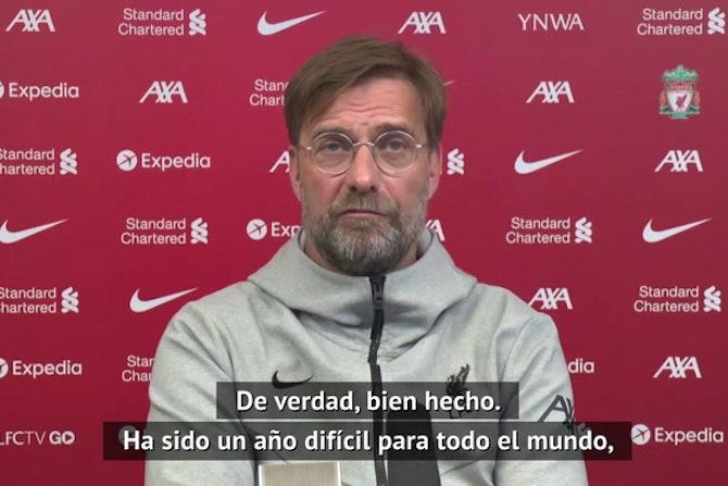 """El elogio de Klopp a Guardiola: """"Una plantilla increíble y el mejor entrenador del mundo"""""""