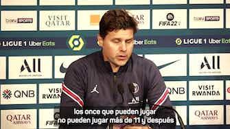 Imagen de vista previa para Pochettino explica la sustitución de Leo Messi