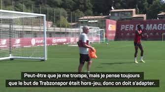 """Image d'aperçu pour Ligue Europa Conférence - Mourinho : """"On doit accepter qu'il y a des pays où c'est compliqué d'avoir la VAR"""""""
