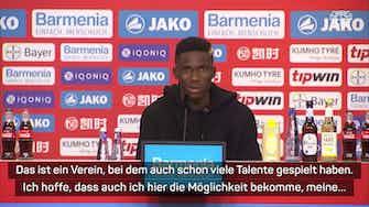 """Vorschaubild für Kossounou: Bayer """"ein großer Klub in Deutschland"""""""