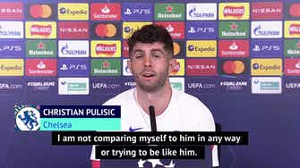 Preview image for Pulisic honoured by Hazard comparisons