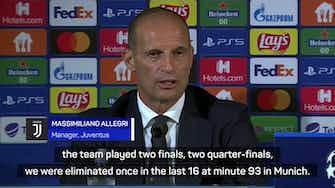 Preview image for Allegri admits to Juve's reduced standing in Champions League