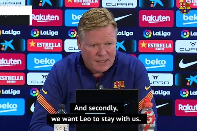 Koeman 'doesn't care' about Messi's future with title on the line