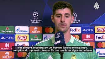 """Imagem de visualização para Courtois comemora vitória sobre a Inter, mas alerta: """"Não foi a nossa melhor partida"""""""