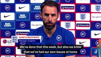 Preview image for 'We have our own issues at home' - Southgate coy on Hungary abuse