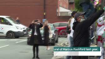 Preview image for Manchester united as Rashford mural restored