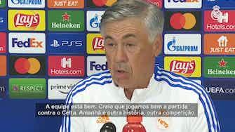 Imagem de visualização para Antes de estreia, Ancelotti fala da mística entre Real Madrid e a Champions League