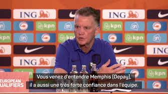 """Image d'aperçu pour Pays-Bas - Van Gaal et les Oranjes """"confiants comme Verstappen"""""""