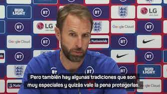 """Imagen de vista previa para Southgate, sobre el Mundial cada 2 años: """"Hay tradiciones que quizás vale la pena protegerlas"""""""