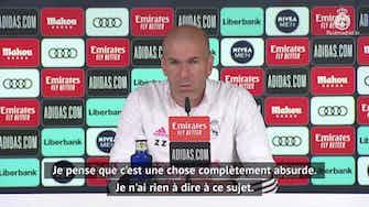 """Image d'aperçu pour Super Ligue - Zidane : """"Ce serait une absurdité d'être exclu de la Ligue des Champions"""""""