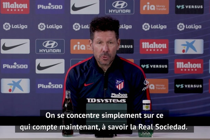 """36e j. - Simeone : """"Il y aura toujours des polémiques dans le football"""""""
