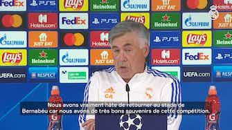 """Image d'aperçu pour Carlo Ancelotti : """"Nous devrons être très concentrés"""""""