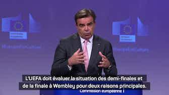 Image d'aperçu pour Euro 2020 - La Commission européenne s'interroge sur la finale à Wembley