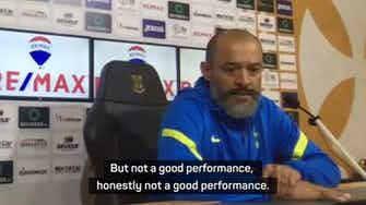 Preview image for Nuno left disappointed after shock Spurs defeat