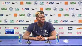 """Image d'aperçu pour Bleus - Pogba : """"Aucune tension entre Giroud et Mbappé"""""""