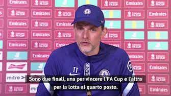 """Anteprima immagine per Tuchel: """"FA Cup e quarto posto, due finali con il Leicester"""""""