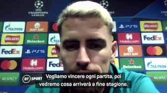 """Anteprima immagine per La carica di Jorginho: """"Vogliamo vincere tutto con Lukaku"""""""