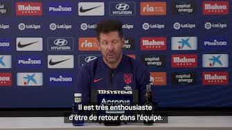 """Image d'aperçu pour 4e j. - Simeone - """" Les supporters vont être exigeants avec Griezmann"""""""