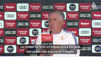 """Anteprima immagine per Ancelotti: """"United, che colpo CR7! Gli auguro il meglio"""""""