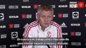 """Imagen de vista previa para Solskjaer: """"Hay negociaciones entre Pogba y el club"""""""