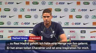 """Vorschaubild für Varane: """"Zidane ist eine Inspiration für mich"""""""