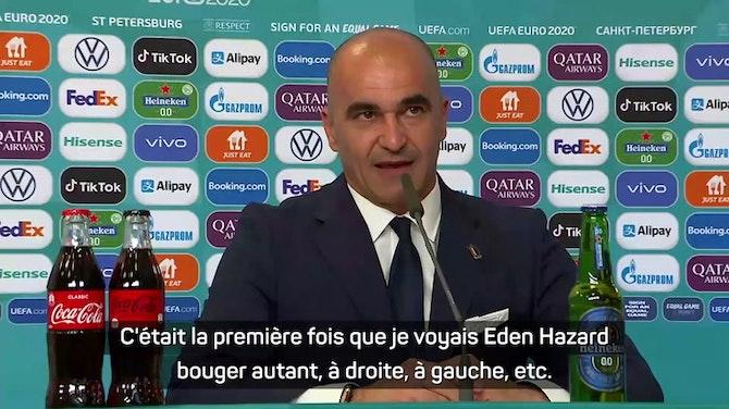 """Image d'aperçu pour Groupe B - Martinez : """"Pas inquiet du tout"""" pour Hazard"""