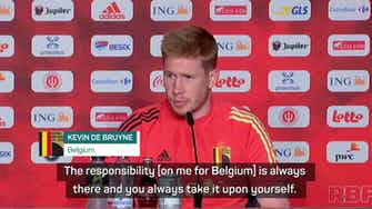 Preview image for De Bruyne on burden for Belgium, City heartache and winning the Euros