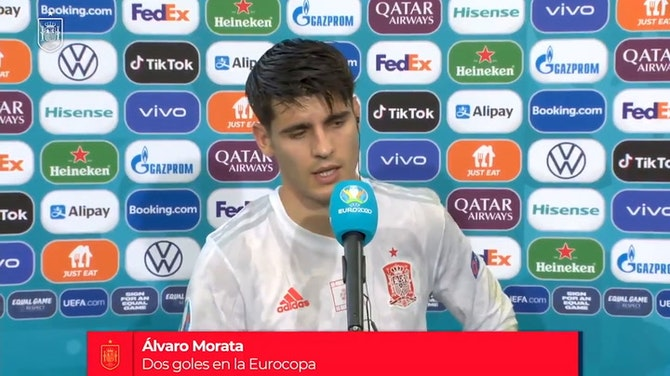 Imagen de vista previa para Las palabras de Morata tras haber marcado un gol clave en la prórroga