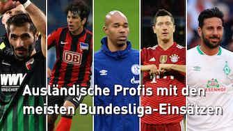 Vorschaubild für Lewandowski rückt vor: Top 5 der Bundesliga-Legionäre