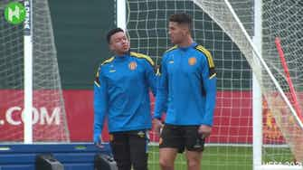 Preview image for Ronaldo shows off skills in Man United training ahead of Atalanta