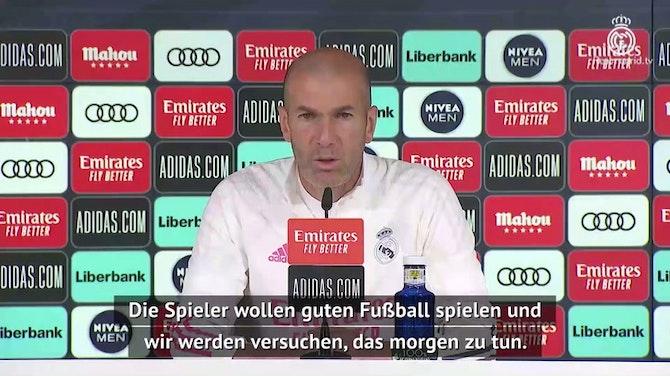 Vorschaubild für Zidane: Fokus liegt auf Granada-Sieg