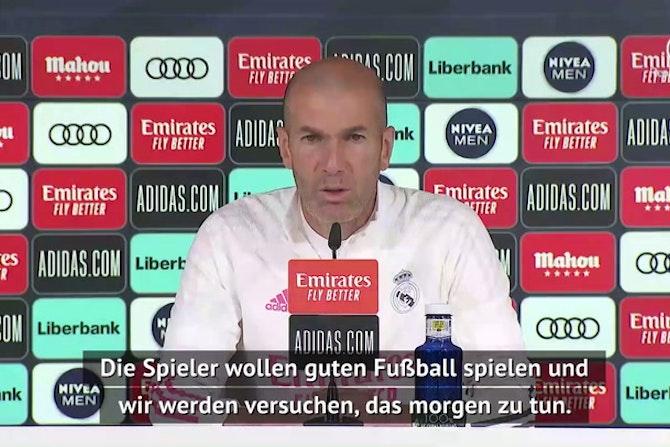 Zidane: Fokus liegt auf Granada-Sieg