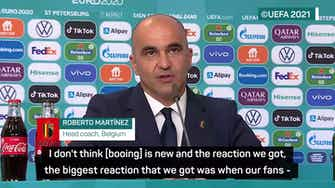 Preview image for Martinez credits Belgian unity for blocking out boos