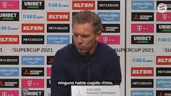 Imagen de vista previa para Nagelsmann valora la victoria del Bayern ante el Dortmund en la Supercopa