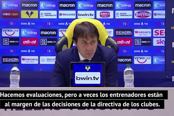 Conte se desmarca del anuncio del Inter declarando transferible a Eriksen