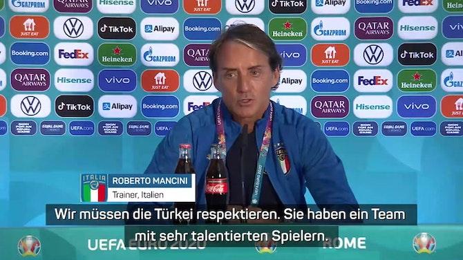 """Mancini vor Türkei: """"Im ersten Spiel mehr Druck"""""""