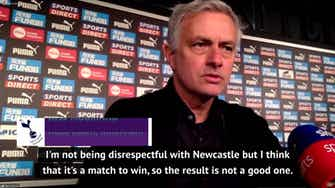 Preview image for Mourinho puts Tottenham's draw at Newcastle down to 'instability'