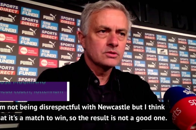 Mourinho puts Tottenham's draw at Newcastle down to 'instability'