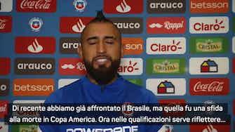 """Anteprima immagine per Vidal: """"Il Brasile? Vogliamo batterli, sono molto motivato"""""""