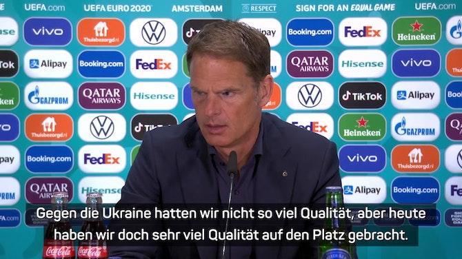 """Frank de Boer: """"Konnten dem Druck standhalten"""""""