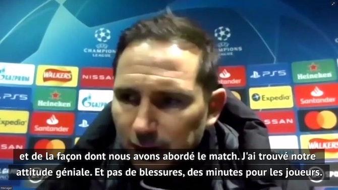 """Groupe E - Lampard : """"J'ai trouvé notre attitude géniale"""""""