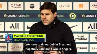 Preview image for Pochettino urges PSG to 'believe' they can win Ligue 1 title