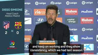 Preview image for Simeone delighted by suddenly free scoring Lemar in Barcelona win