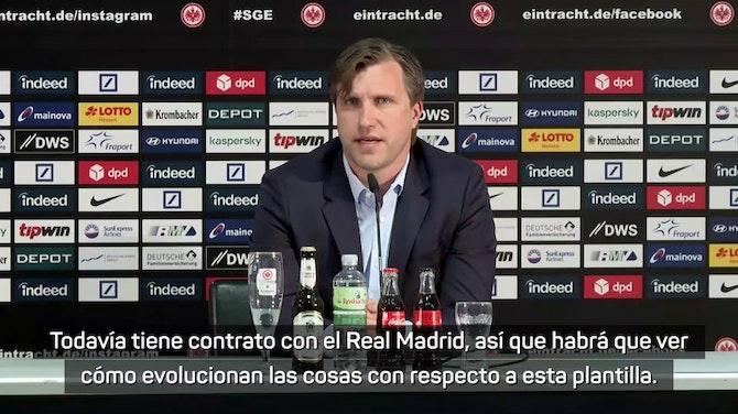 """Imagen de vista previa para Markus Krösche, sobre Jovic: """"Todavía tiene contrato con el Real Madrid"""""""