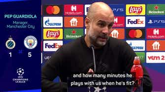 Preview image for Guardiola warns City fans not to compare Palmer with Foden