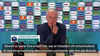 """Vorschaubild für Deschamps: """"Keiner gibt Mbappe die Schuld"""""""