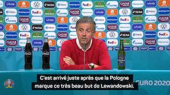 """Image d'aperçu pour Groupe E - Luis Enrique : """"Rater le penalty a un peu augmenté la tension dans notre équipe"""""""
