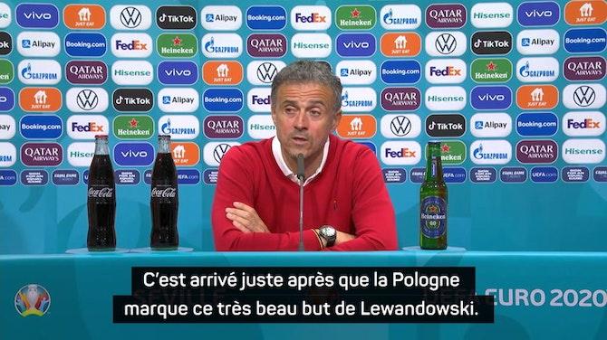 """Groupe E - Luis Enrique : """"Rater le penalty a un peu augmenté la tension dans notre équipe"""""""